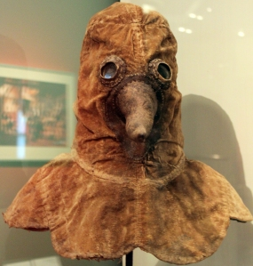 17th Century plague mask.  Source: Wikimedia Commons