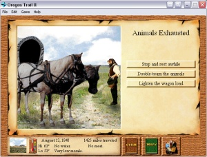 Oregon Trail II featured beautifully updated graphics