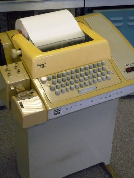 The Model 33 Teletype was popular during the 1970's due to its affordability. This was one of the first machines to use ASCII code.