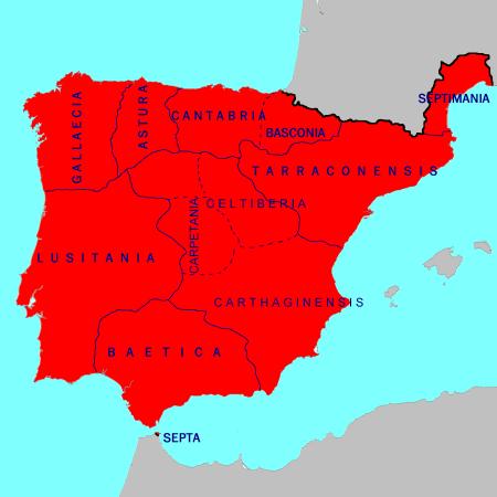 Visigothic Hispania circa 700 AD